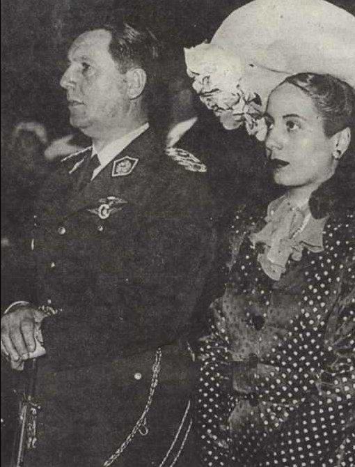 Albay Juan Peron ile Eva Duarte