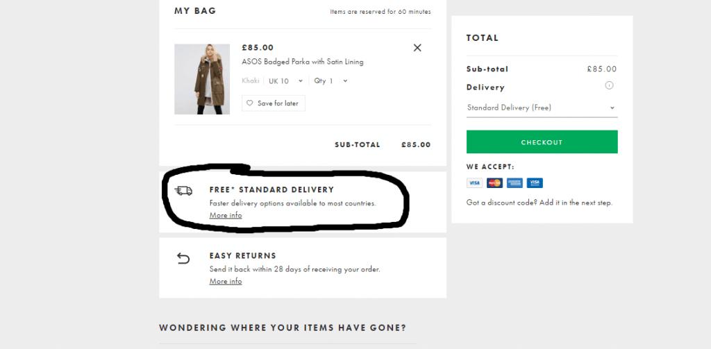 asos dan alışveriş yapmak
